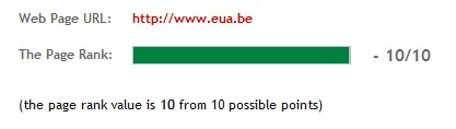 Pagerank-check for http://www.eua.be